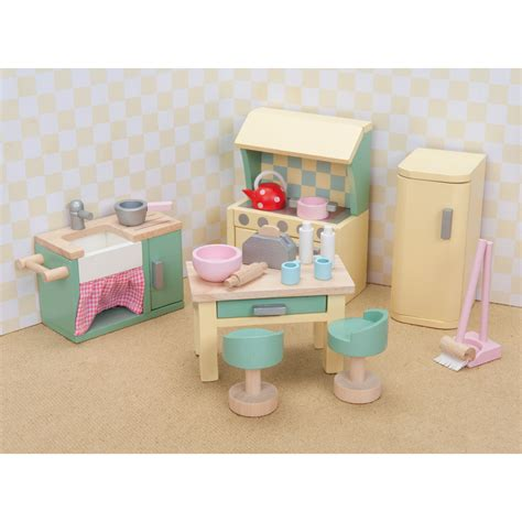 doll house accesories le toy van daisylane kitchen set toy dollhouse accessories at hayneedle