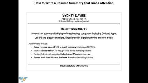 how to write a good resume summary megakravmaga com