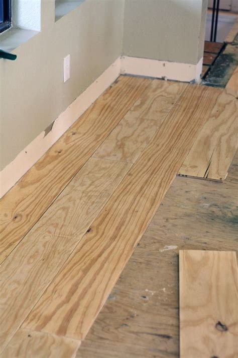 Plywood Floors Diy by Green Notebook Diy Wide Plank Floors Made From