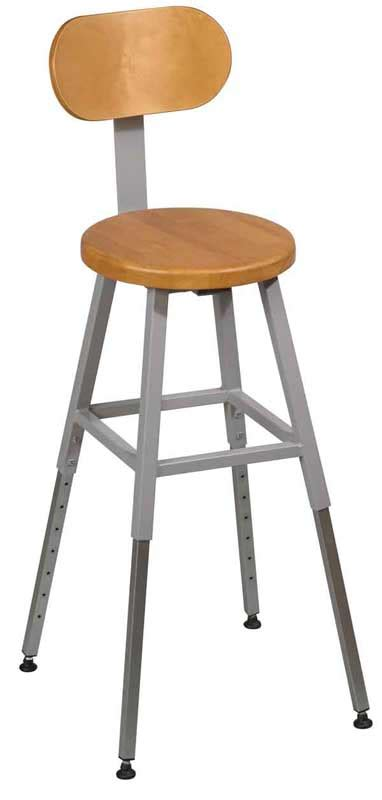 Lab Stool With Back by Balt Adjustable Height Lab Stool W Back Gray Frame