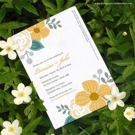 seed paper wedding invitation kits seed paper printable wedding invitations kit plantable