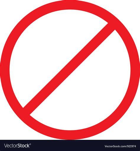 A Forbidden forbidden sign royalty free vector image vectorstock