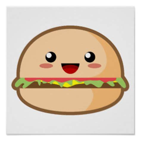 imagenes de hamburguesas kawaii kawai posters zazzle