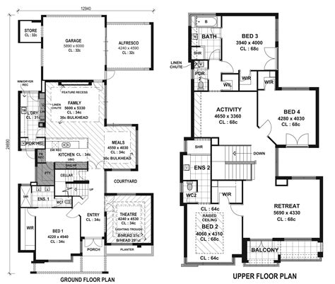 modern architecture floor plans contemporary villa plans modern house