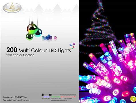 200 multi colour led lights christmas chaser function