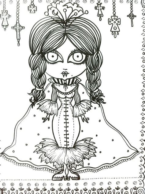 coloring book for goths vixens coloring book page