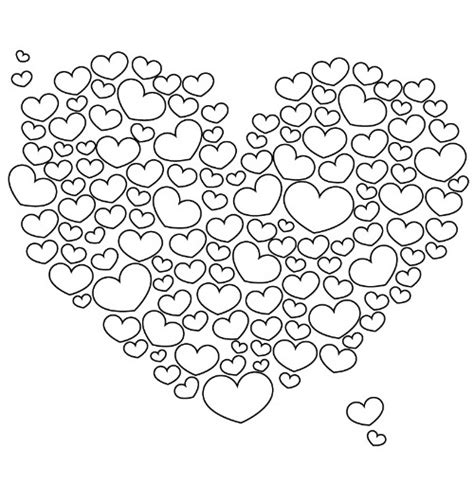 Festivals Coloring Pages Coloring Part 25 Happy Valentines Day Hearts Coloring Pages