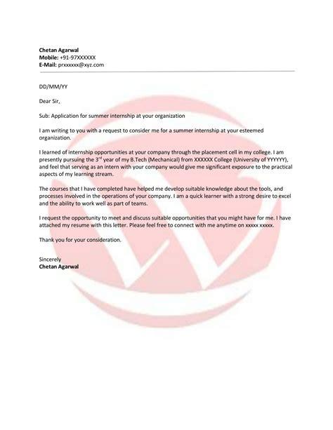 Internship Invitation Letter Format internship sle letter format letter format