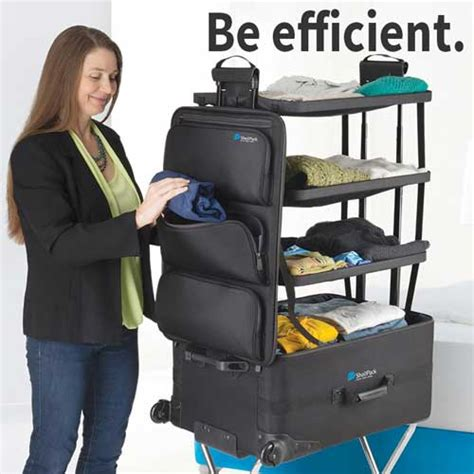 suitcase with shelves shelfpack the suitcase with shelves luggage with built