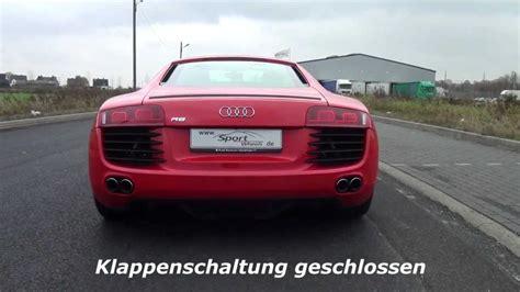 Audi R8 Klappenauspuff by Audi R8 4 2 V8 Eisenmann Klappenauspuff Youtube