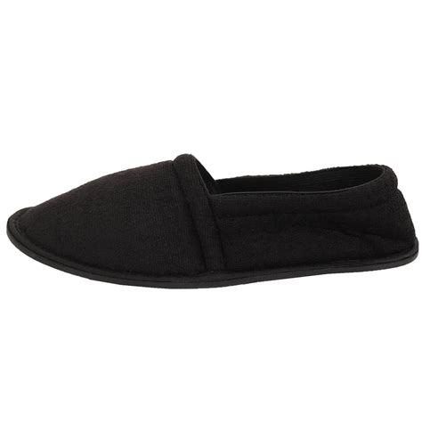 three house shoes mens slippers house shoes terry slip on flexible sole comfort outdoor cloth soft ebay