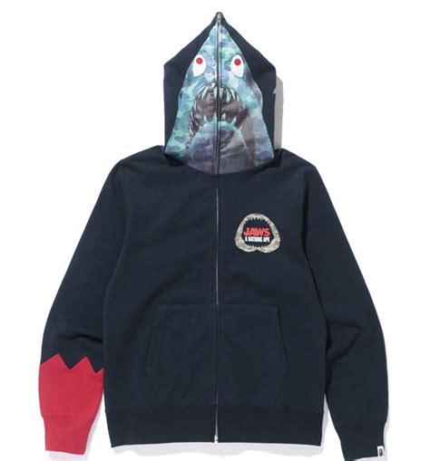 Bape Shark Fullzip Hoodie bape x jaws shark zip hoodie white rabbit express