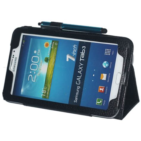 Galaxy Tab 3 7 0 P3200 7 Inch pu leather 7 inch tablet cover for samsung galaxy tab3 7 0 p3200 tablet stand free