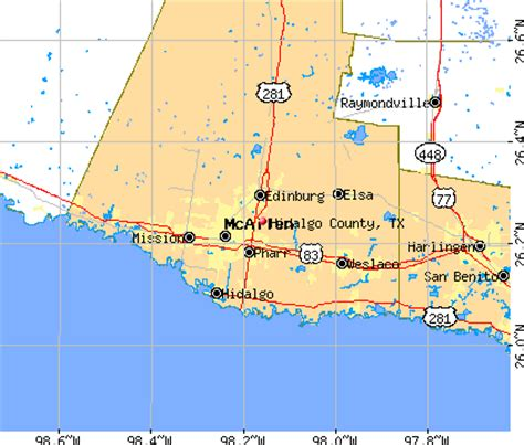 hidalgo texas map geography of hidalgo county texas