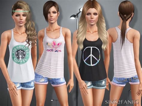 sims 2 clothing the sims resource sims2fanbg s 388 teen top with shorts