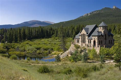 Colorado Search Picturesque Chapel Near Estes Park Colorado Colorado