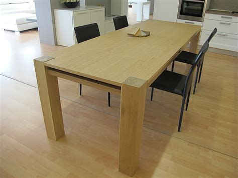 tavolo rettangolare tavolo in legno massiccio rovere allungabile tavoli a