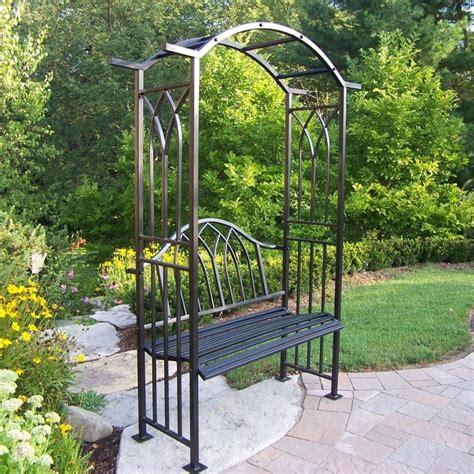 Black Garden Trellis shop oakland living mississippi 4 95 ft w x 7 04 ft h black garden arbor at lowes