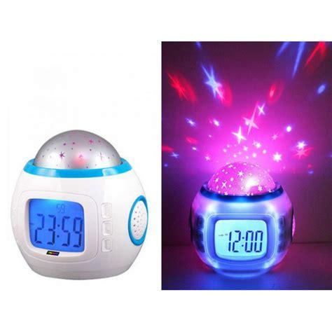 light projection alarm clock music star light projection alarm clock