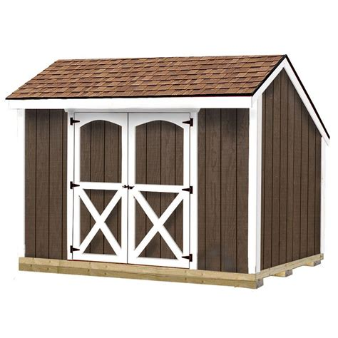 best barns aspen 8 ft x 10 ft wood storage shed kit with