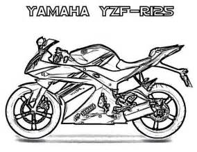 Yamaha Motorcycle Coloring Pages sketch template