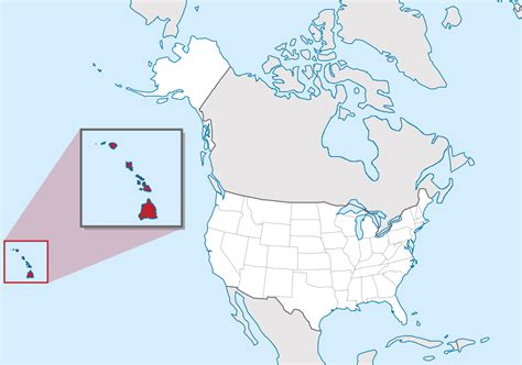 map of us states and hawaii file hawaii in united states zoom us50 grid svg