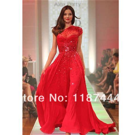miranda kerr red prom dress david jones spring summer 2012 miranda kerr red prom dress sequined one shoulder dress