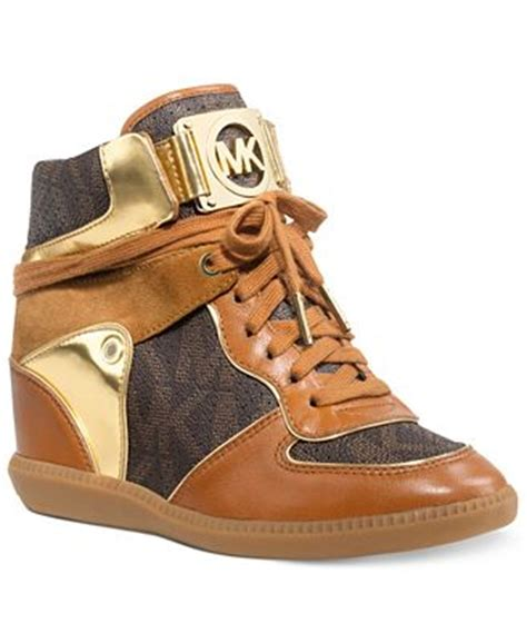 mk shoes macy s michael michael kors nikko high top wedge sneakers shoes