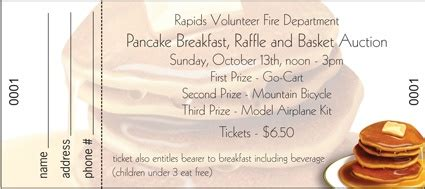 pancake breakfast ticket template the world s catalog of ideas