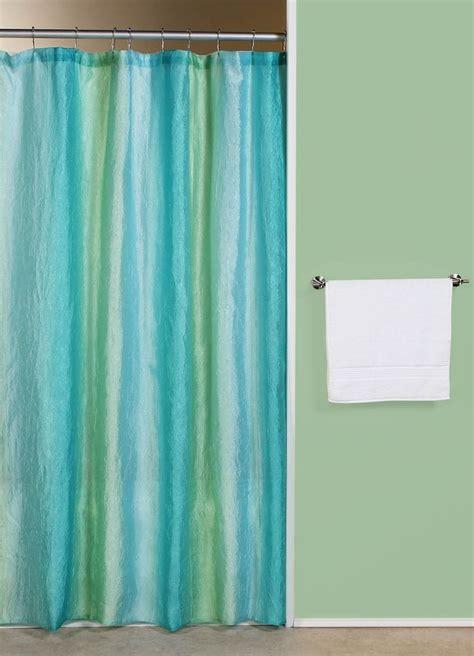 Green Bathroom Window Curtains Curtain Bath Outlet Ombre Blue Green Fabric Shower Curtain Bathroom Ideas Pinterest