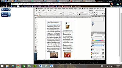 creating newsletter indesign indesign cs6 creating a simple newsletter training