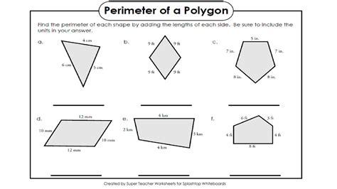 Perimeter Of Polygons Worksheet