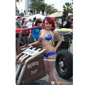 Car Show Bikini Girl With Rat Rod  Hotties Rods &amp Rides