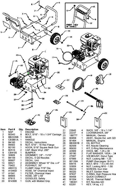 Generac pressure washer model 1418-1 Replacement Parts