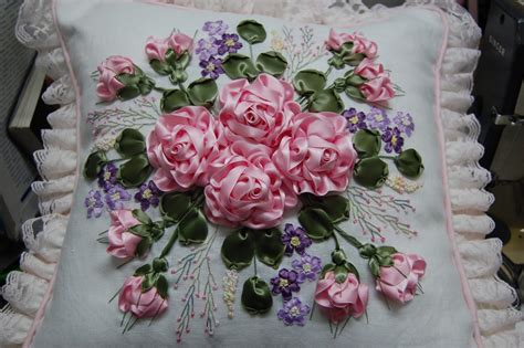 close up on roses double sided satin ribbon