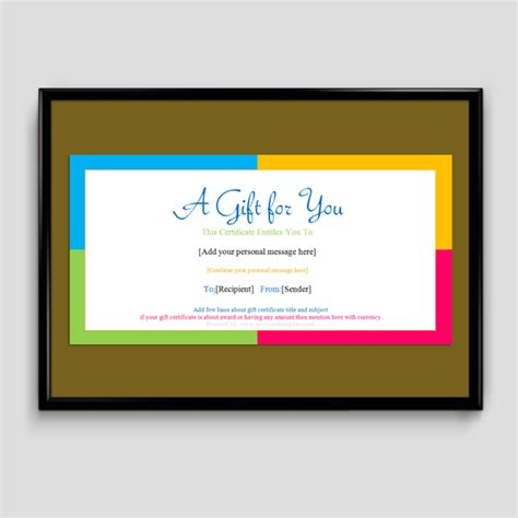simple gift certificate template gift certificate template 6 fillable certificate