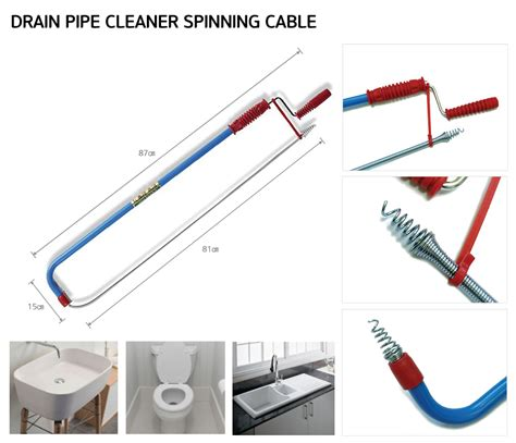 Drain Pipe Cleaner Drain Pipe Cleaner Spinning Cable