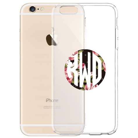 Floral Blink 3 Cover For Iphone 5 5s floral custom name monogram transarent for iphone 7 7