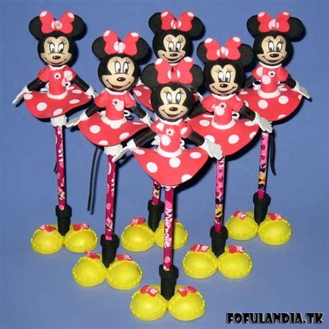 Boneka Mickey Mouse School fofuchas lapices minnie mouse fofulandia tk