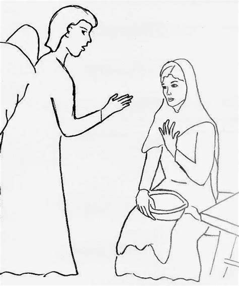 coloring pages of the angel gabriel elliott s muses wednesday day 11 mary said quot yes quot