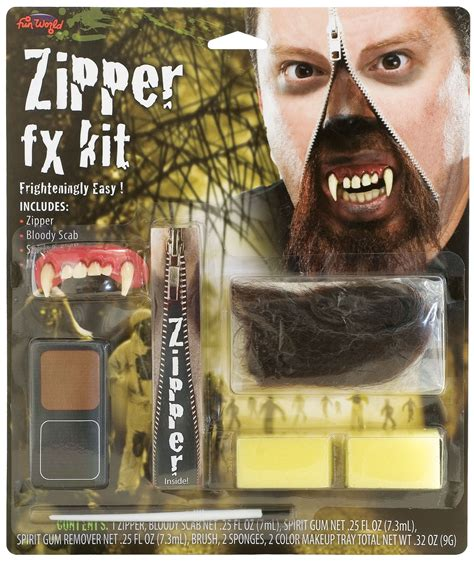 tutorial deluxefx fx makeup open zipper horror zipper face vire dracula