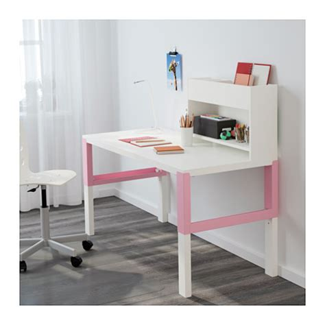 ikea pahl p 197 hl desk with add on unit white pink 128x58 cm ikea