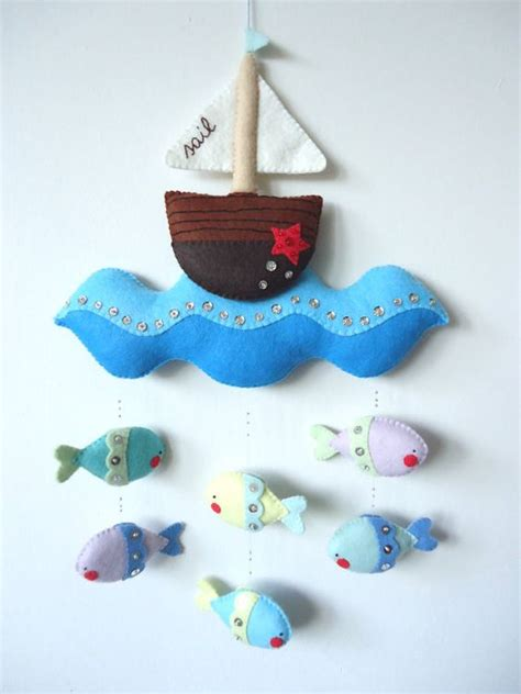 felt pattern mobile pdf pattern nautical mobile felt mobile with boat sea