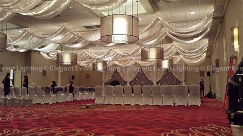 how to hang ceiling drapes for events jenna scott s renaissance chicago north shore