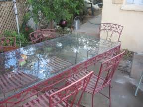 Vintage Patio Table Items Similar To Vintage Wrought Iron Patio Set Table W Glass 6 Chairs Made By The Floretine