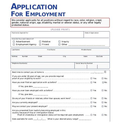 Pdf What Are Some Applications the importance of employment application pdf free