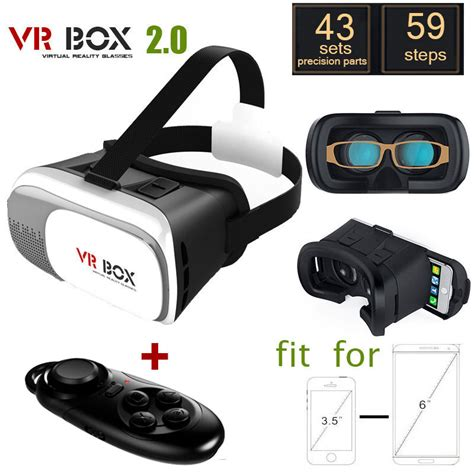 Termurah Vr Vr Box 2 3 3d Bluetooth Smartphone Universal Remote cardboard headmount vr box 2 0 version vr