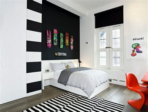 white bedroom with black accents bold bedroom color ideas with black and white accents