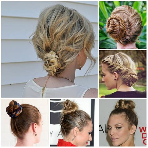 Braided Buns Hairstyles by Braided Bun Hairstyles 2016 2017 Haircuts