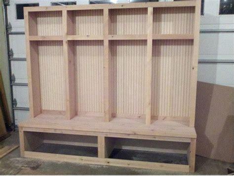 original wooden diy mudroom lockers home